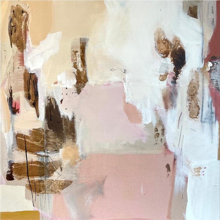 Sipping Mokka | 80 x 80 | Mixed media on canvas